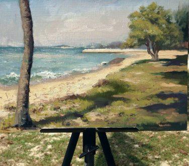 """""""East Coast Park I"""" - Oil on Panel, 2016"""