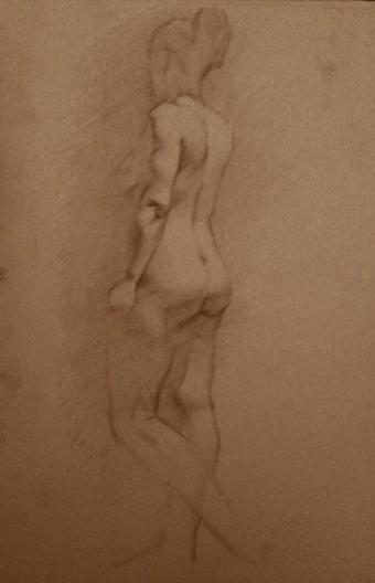 """Figure Study I"" - Pencil on paper"
