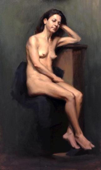 """Female Nude Study"" - Oil on Canvas"