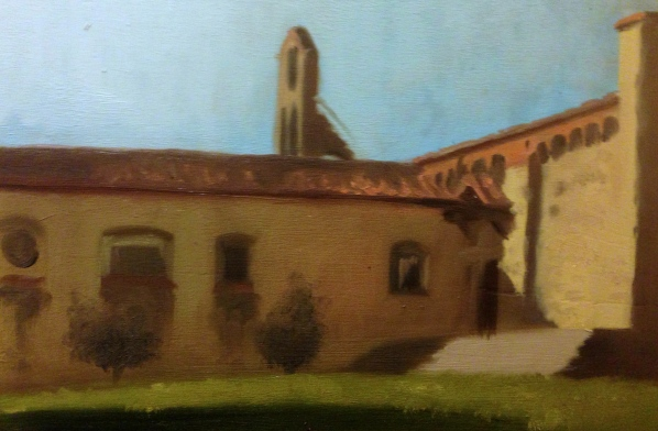 """Fiesole Monastery"" - Oil on panel"
