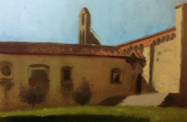 """Fiesole Monastery"" - Oil on panel"