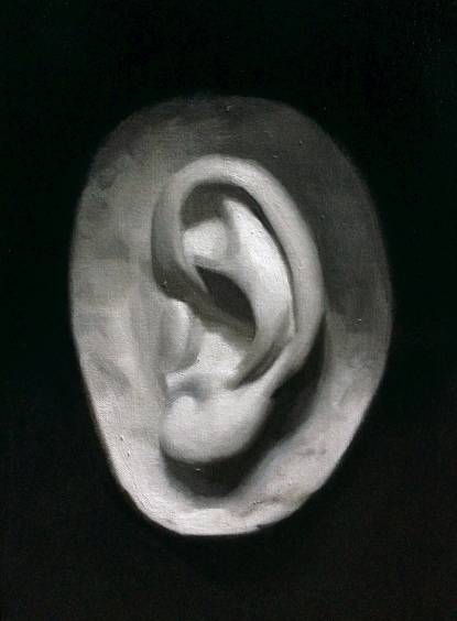 """Ear"" - Oil on canvas"