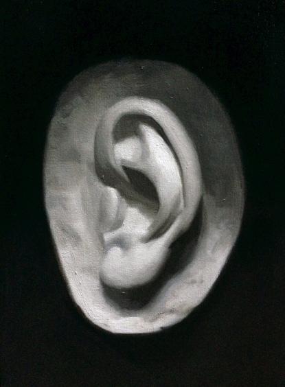 """""""Ear"""" - Oil on canvas"""