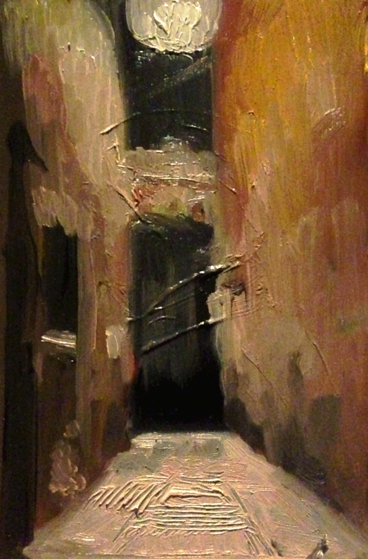 """Venice alley study"" - Oil on panel"