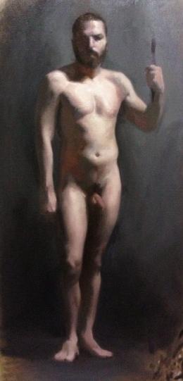 """""""Figure I"""" - Oil on canvas"""