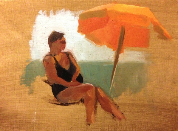 """Beach study I"" - Oil on Panel"