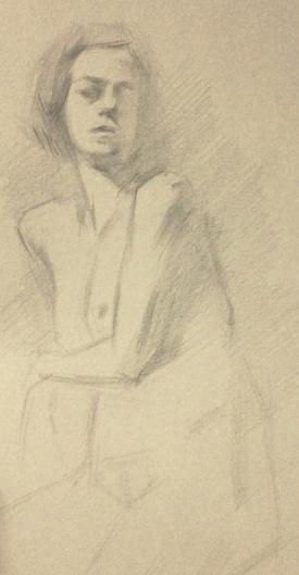 """Figure Study II"" - Pencil on paper"