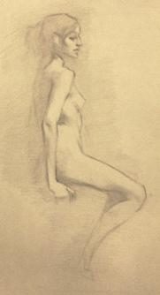 """Figure study III"" - Pencil on paper"
