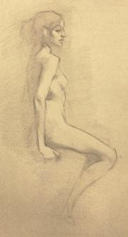 """Figure study III"" - Pencil on paper"