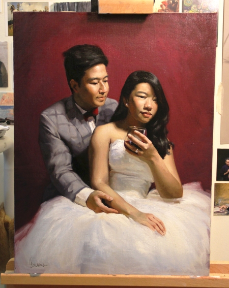 Nathan + Nikko Wedding Commission - Oil on Canvas. 2016.