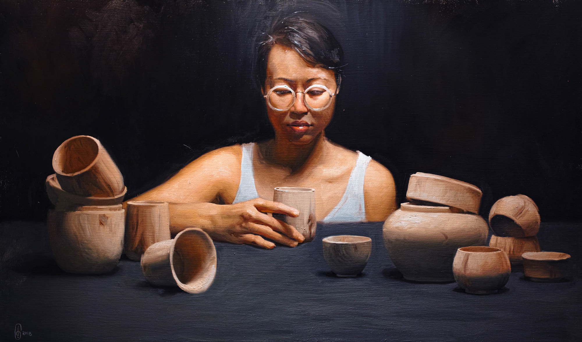 Painting of Yanyun Chen by Sara Chong